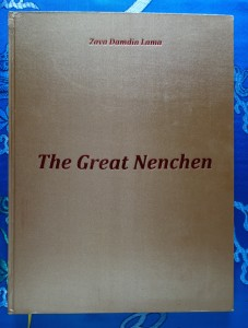 The Great Nenchen (2015) by Zava Damdin Lama, silk cloth, embossed front cover, English