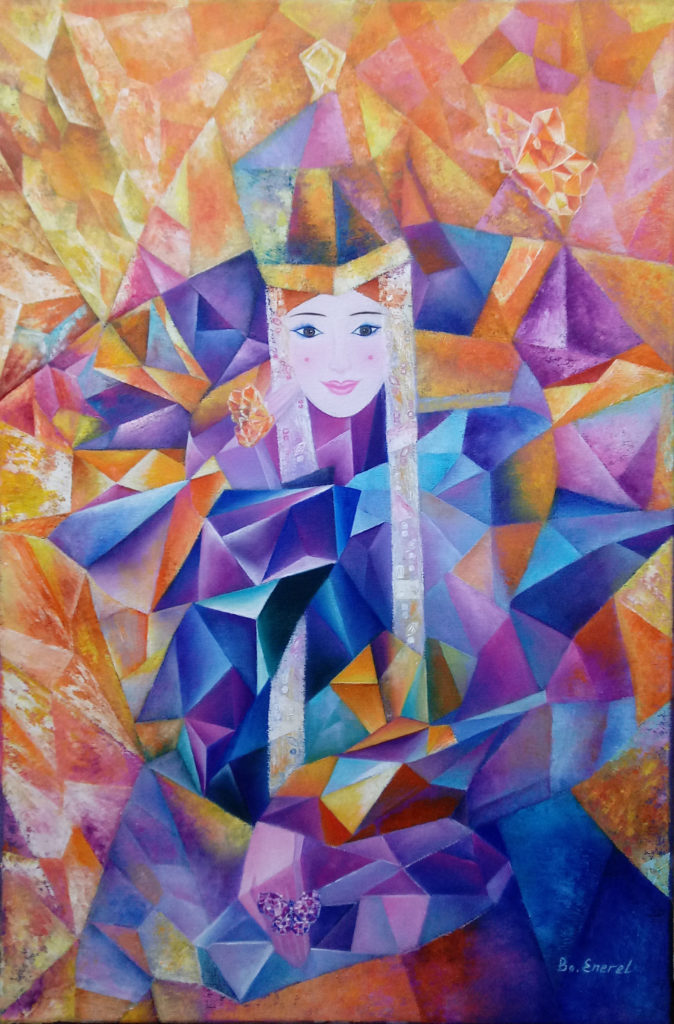 © 2017. QUEEN by Mongolian artist B.Enerel. Reproduced on CPinMongolia.com with the artist's permission.