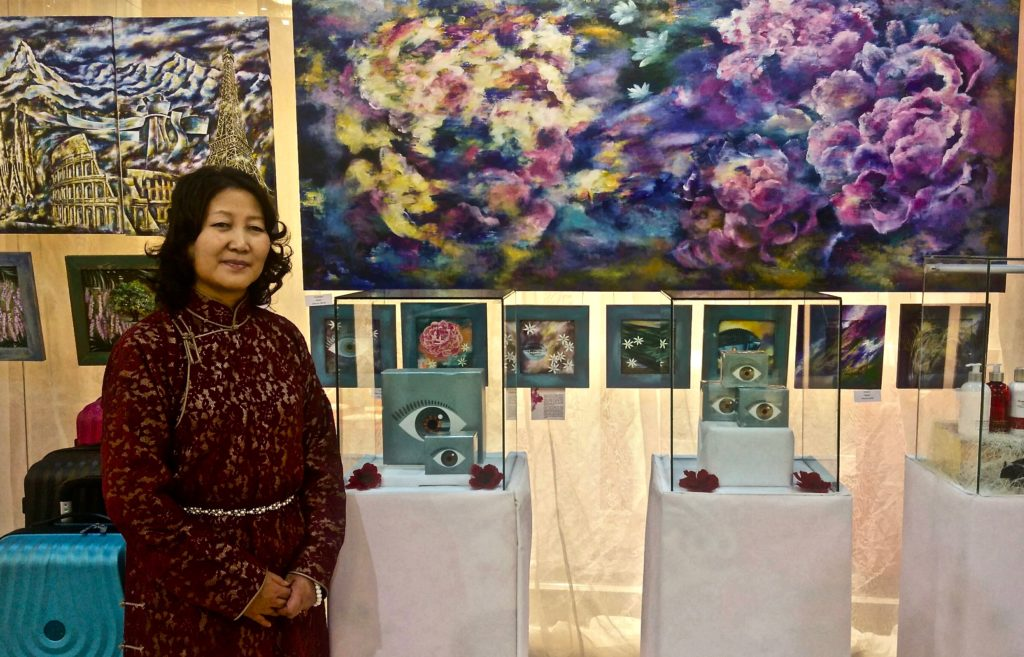 Mongolian artist S.Gantsatsaral in Ulanbaator 3 March 2018.